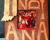 Indiana Hoosiers Rustic Wood Picture Frame
