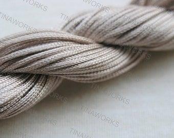 33Yard 1.0mm Grey Chinese Knotting Cord / Braided Nylon Bead Cord