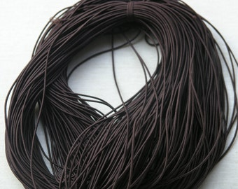 60 Meters/196ft Brown Shock Cord Stretch Elastic Beading Cord/Thread Best For Bracelet Making Size 2.0mm