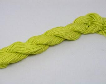 18YD 1.5mm Lemon Chinese Knotting Cord/Braided Nylon Beading Cord