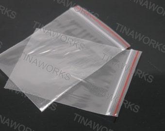 100pcs Clear Self Adhesive Seal Plastic Cello Bag 5x7cm