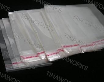 100pcs Clear Self Adhesive Plastic Cello Bag 6x8cm
