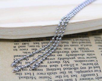 30pcs of 24'' Stainless Steel Ball Chain Necklace 1.5mm Bead Lead Free Best For Scrabble Tiles, Dog Tag, Glass Pendant