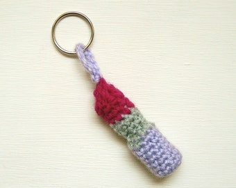 Crochet pattern PDF - Lipstick key chain