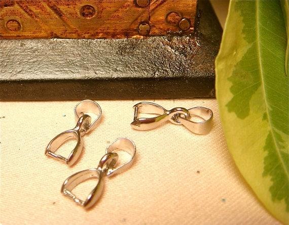 Silver Plated Bails / Connectors for Swing Pendants, Item M1e - 3pcs