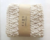 Crochet Wash Cloths or Dish Cloths - 100% Cotton - Set of Three - Crochet Washcloths - Dishcloths - Bathcloths