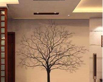 200X200CM Beautiful Big Tree Nature Vinyl Wall Paper Decal Art Sticker Q104