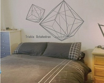 Three-dimensional geometry Words  Nature Vinyl Wall Paper Decal Art Sticker Q197