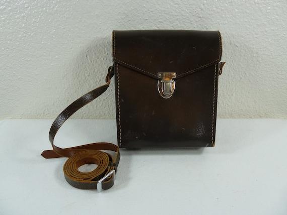 Leitz Wetzlar Vintage Leather Binoculars / Camera Case Made in Germany