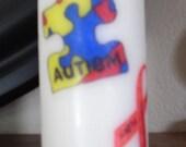 Autism Awareness Candle
