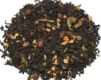 Peppermint Pattie Black Loose Leaf Tea (50 grams), Holiday Tea, Christmas Tea, Mint Tea, Desert Tea