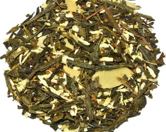 Almond Biscotti Green Loose Leaf Tea (50 grams)
