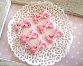6pcs Cute Fabric Bow Pink