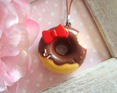 1pc Cute Squishy Donut Sweets Cake Pendants Charms