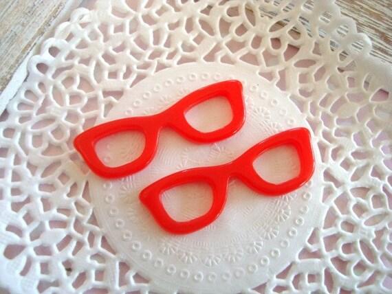 2pcs Cute Red Hello Kitty Glass Frame Resin cabochon flatback Last Set