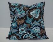 Java Blue Throw Pillow