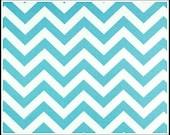3 yds Blue Chevron -  Premier Prints - Girly Blue  /  white  - ZigZag Fabric - Home Decor  - 3 yards
