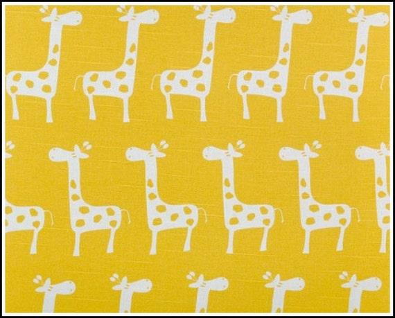 Fat Quarter - Giraffe Print - Stretch in Corn Yellow and Slub  - Premier Prints - FQ