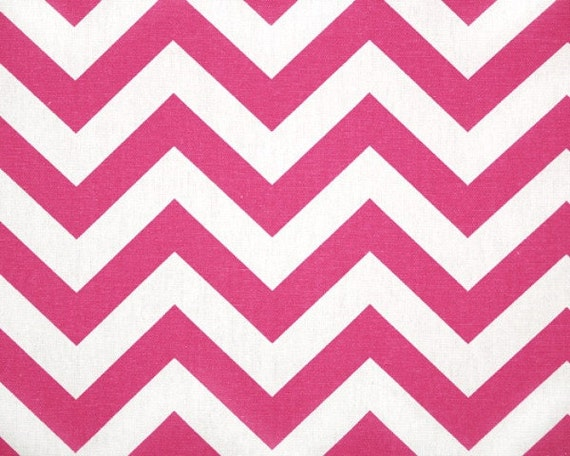 2 yards Candy Pink Chevron -  Premier Prints - Candy Pink /  white  - Zig Zag Fabric - Home Decor