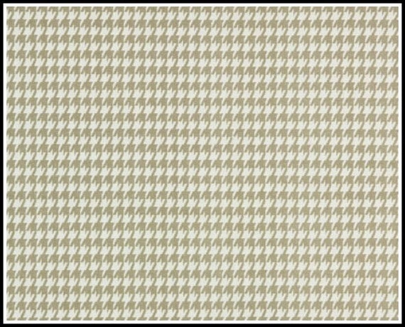 1 yard  - Powder Grey Houndstooth  - Premier Prints -  Light taupe / white - Home Decor Weight - 1 yd