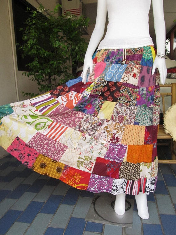 Beautiful  Boho Gypsy Hippie Patchwork Long skirt , Good design