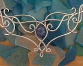Elvish Medieval Renaissance Celtic Necklace - Blue Stone