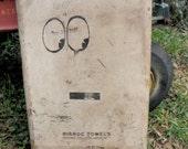 Vintage Vandalized Industrial Metal Paper Towel Holder w/ Keys Dispenser Hanging