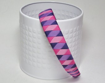 Woven Headband - Pink and Purple Woven Headband -Toddler Headband, Girl Headband