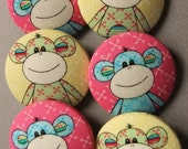 Cheeky monkey buttons (38mm)
