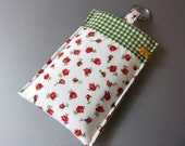 iPhone/iPod cover fits 3, 3g, 4 & 4S made from cotton fabric