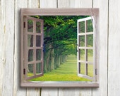"Green Window view, Canvas art, 12""/12"" - hayagold"