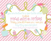 Spa Birthday Party Invitations : Make Up Birthday Party Invitations