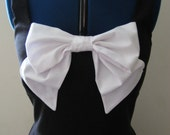 "Black Bow Trim Dress. GLEE, Hell-o. Rachel Berry.  Audrey Hepburn. READY to SHIP. Bust 34-36"" Bridesmaid, Prom."