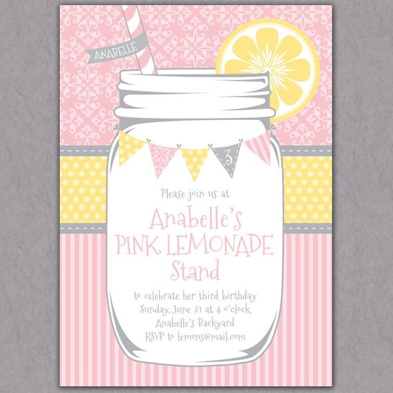 Lemonade Jars For Parties Shabby Chic Mason Jar Lemonade