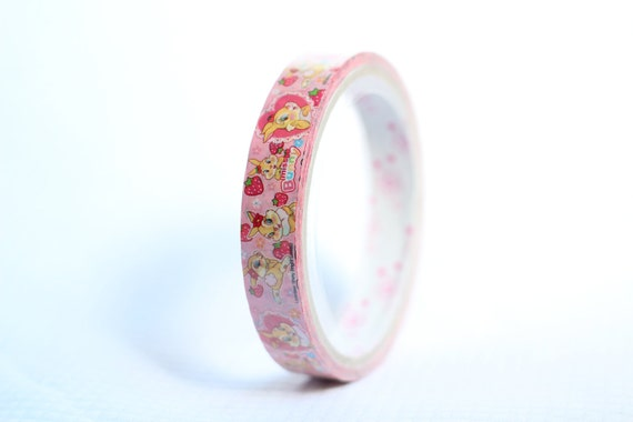 Charity Item Whimsy Disney Deco Tape Pink with Bunny Scallop Lace Scrapbooking Washi Tape Japanese