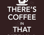 There's Coffee in That Nebula Poster 8x10 print Star Trek Voyager insignia (featured in brown bear)-choose your color