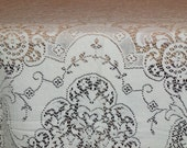 20% off with coupon Beautiful Vintage  Lace Tablecloth sale extended thru Memorial Weekend