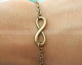 Karma bracelet-vintage karma bracelet-infinity wish bracelet