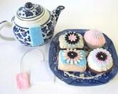 Felt Cupcakes, Felt Desserts, Felt Sweets, Play Food