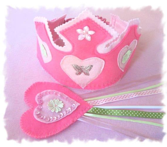 Dress Up Crown, Fairy Wand, Birthday Crown