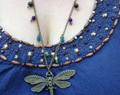 Beaded Dragonfly Necklace