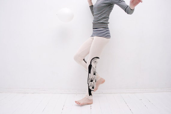 Vanilla cream delicate leggings
