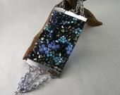 Sparkling Madness - Designer Swarovski Crystal Bracelet with Silver Chain on Black Suede Band.