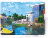 Venice Canals 1, Los Angeles, Signed Art Print