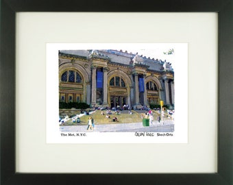 Metropolitan Museum of Art, New York City, With Frame of Choice, Matted, and Signed Art Print