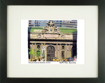 Grand Central Station 1, New York City, With Frame of Choice, Matted, and Signed Art Print