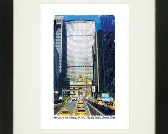 MetLife Building 2, New York City, With Frame of Choice, Matted, and Signed Art Print