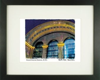 Grand Central Station 2, New York City, With Frame of Choice, Matted, and Signed Art Print
