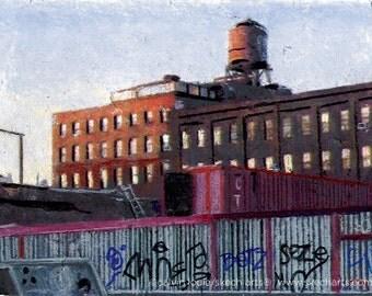 Williamsburg, Brooklyn, New York City, Signed Art Print