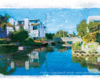 Venice Canals 2, Los Angeles, Signed Art Print